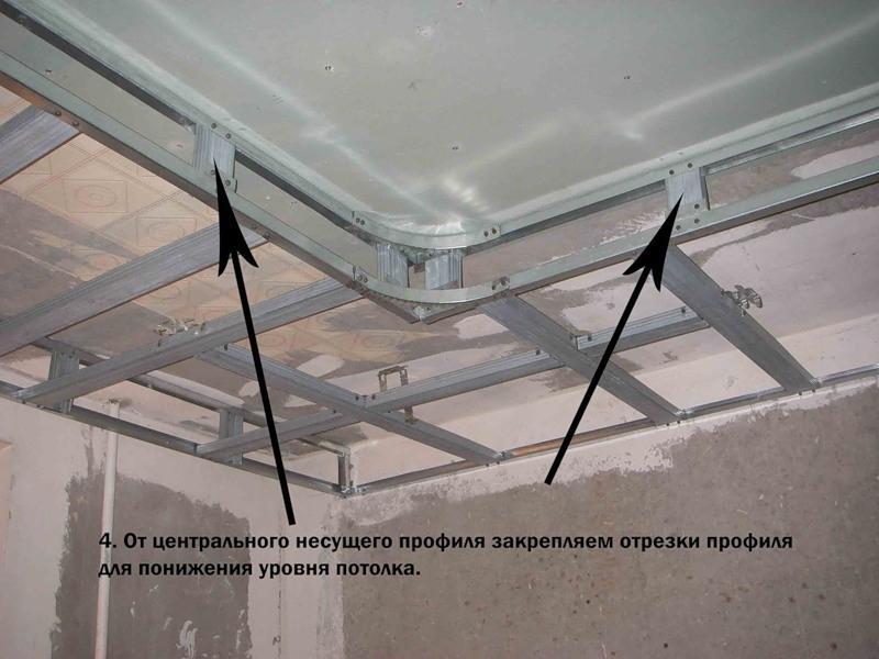 как сделать двухъярусный потолок своими руками