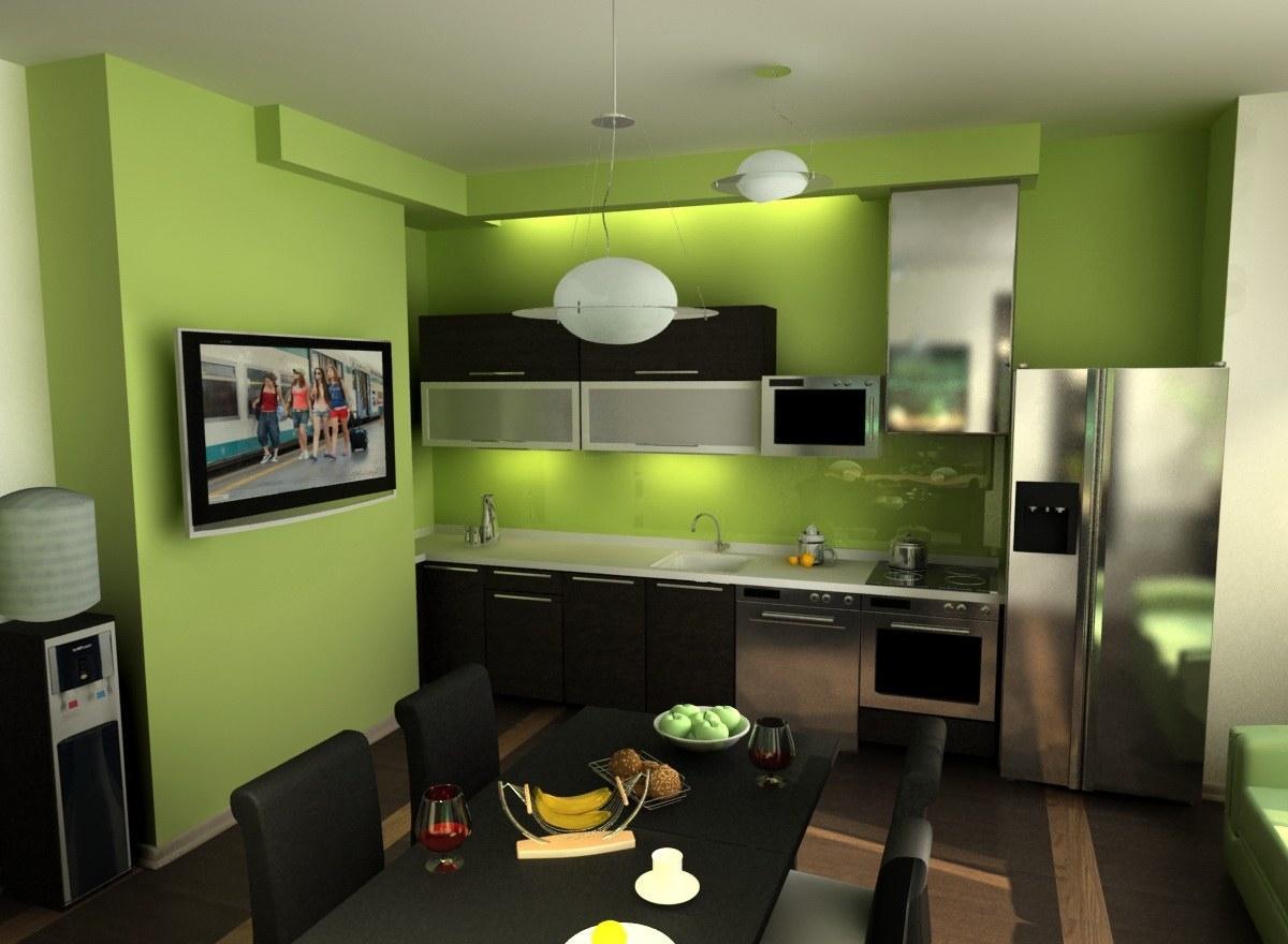 обои на зеленую кухню фото именно благодаря
