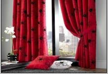 black-grey-and-red-curtains