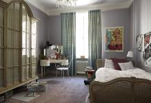 gray-interior-paint-for-bedroom-with-blue-curtain-and-cool-dove-living-room-photo-grey-paint