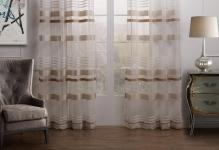 TWOPAGES-Classic-Article-Striped-Sheer-font-b-Curtain-b-font-One-Panel-font-b-Grommet-b