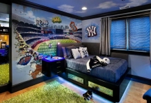 Designing-Boy-Bedroom-Ideas-with-grass-carpet