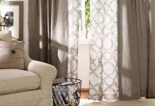 Layer-curtains-in-the-living-room-Love-this-pattern-and-living-room-curtains-ideas