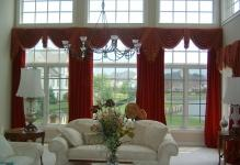Wonderful-curtain-for-large-windows-with-white-sofa-and-hanging-lamp-decor