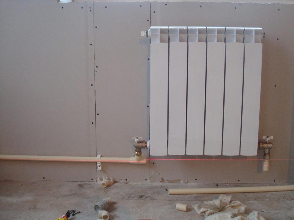 Однотрубная система отопления частного дома фото