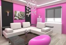 Awesome-Pink-And-Black-Decorating-Ideas-for-Living-Room