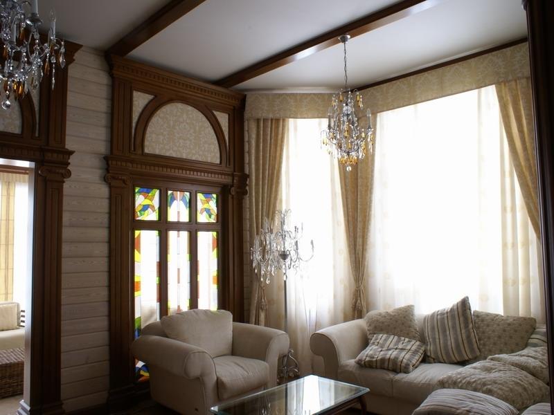Натяжной потолок в своем доме фото