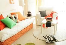 Оранжевые шторы в интерьере: 30 вариантов оформления комнат