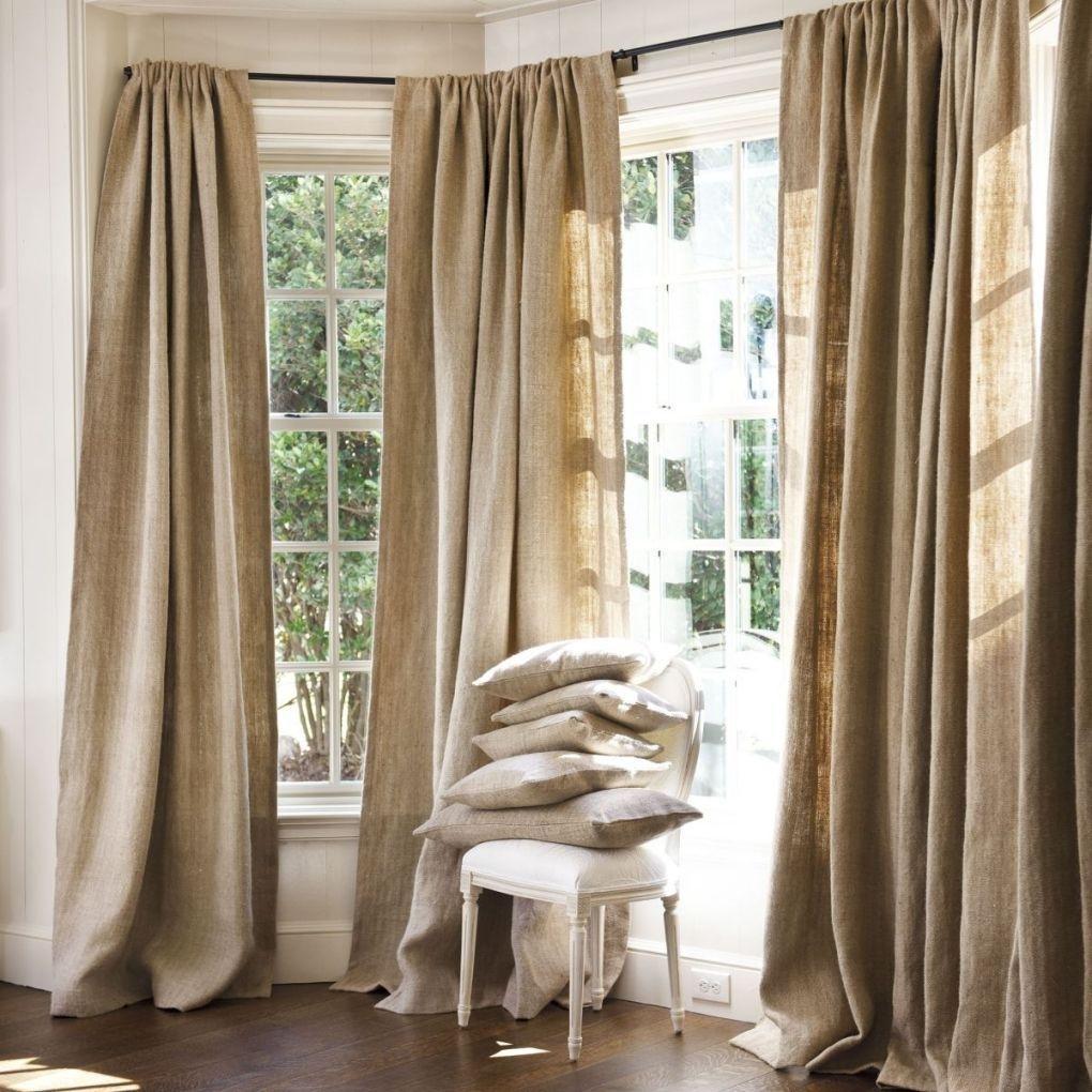 Льняные шторы в картинках