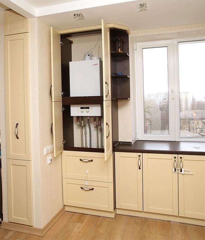 как прикрыть на кухне фото числе удобств