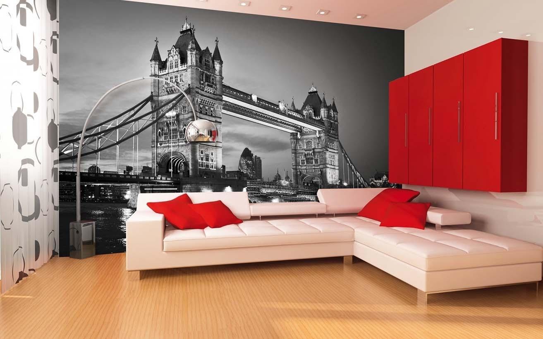 Фотообои в зал черно белые дизайн фото