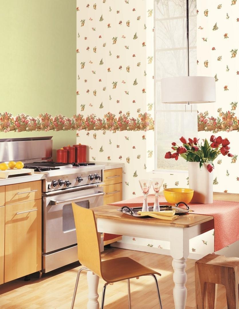 подбор обоев для кухни двух цветов фото отличается барбекю