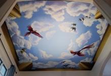 Ceiling-murals-with-birds