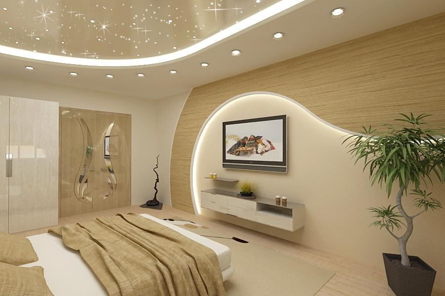 Дизайн комнаты с кривым потолком фото