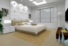 Освещение в спальне с натяжными потолками