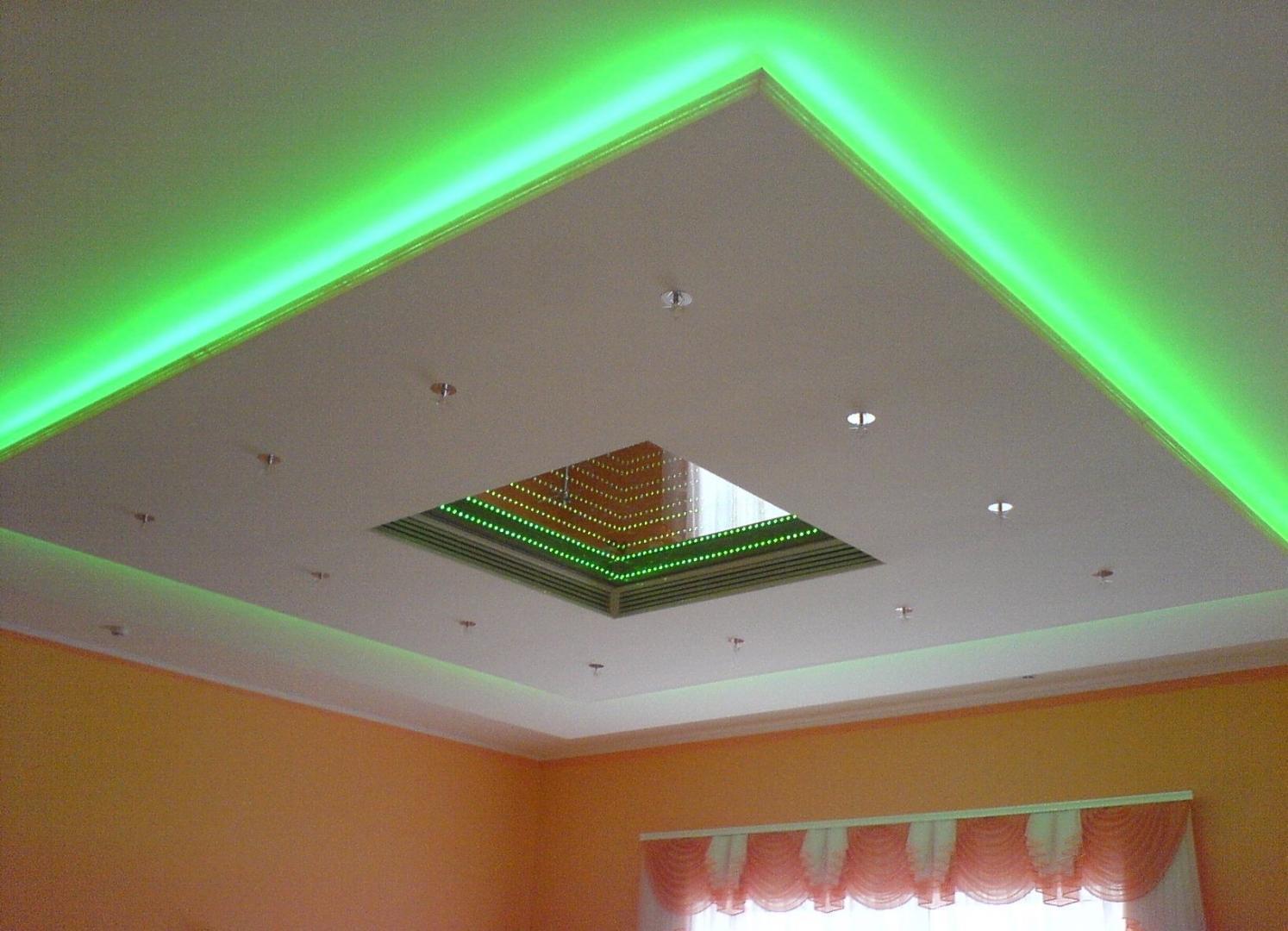 2 уровневый потолок из гипсокартона своими руками фото 714