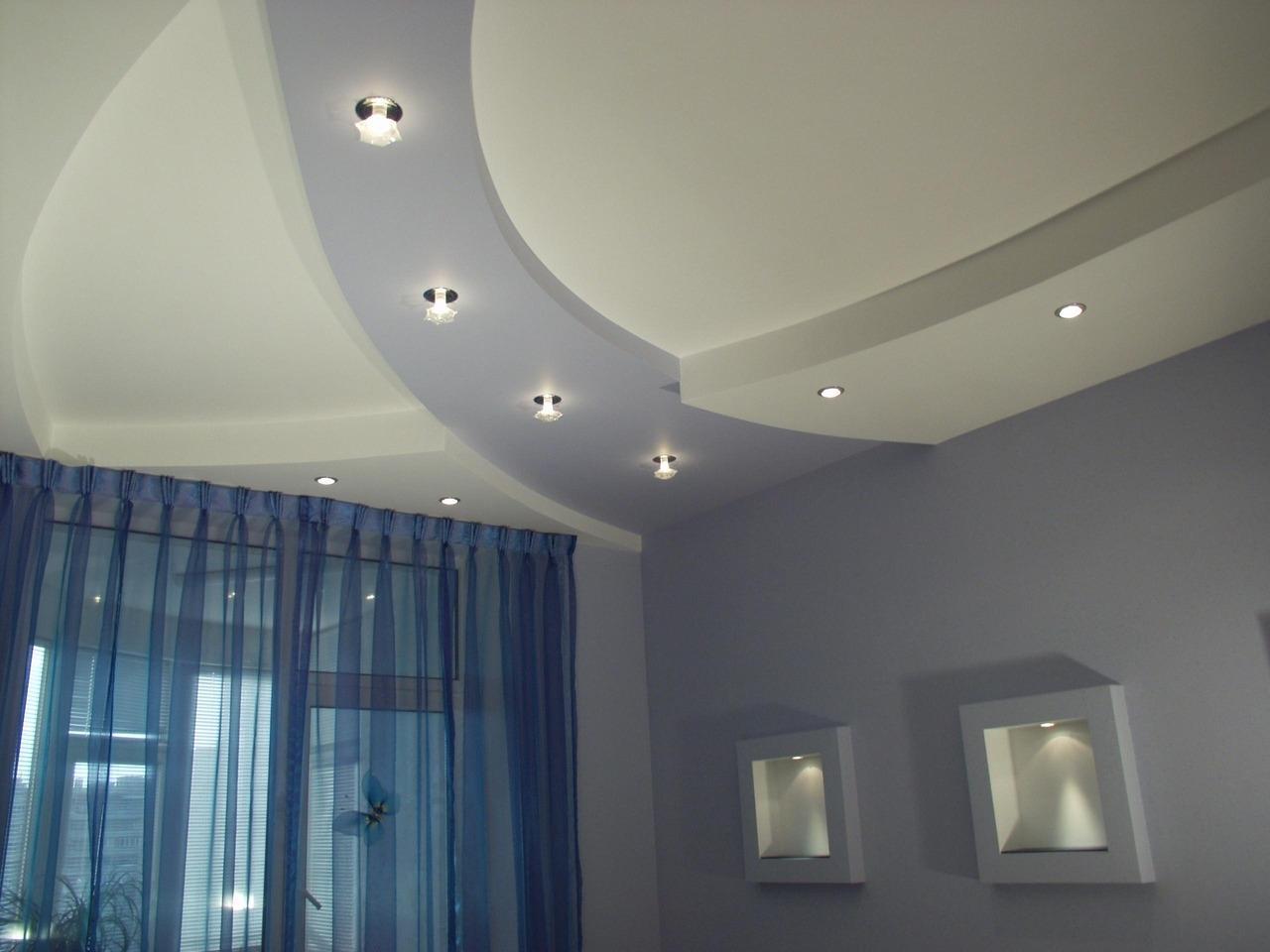 Лампочки на гипсокартонные потолки фото