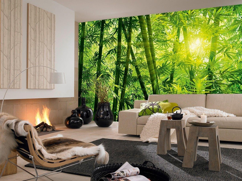 использовать обои бамбук в интерьере фото серебра импортных