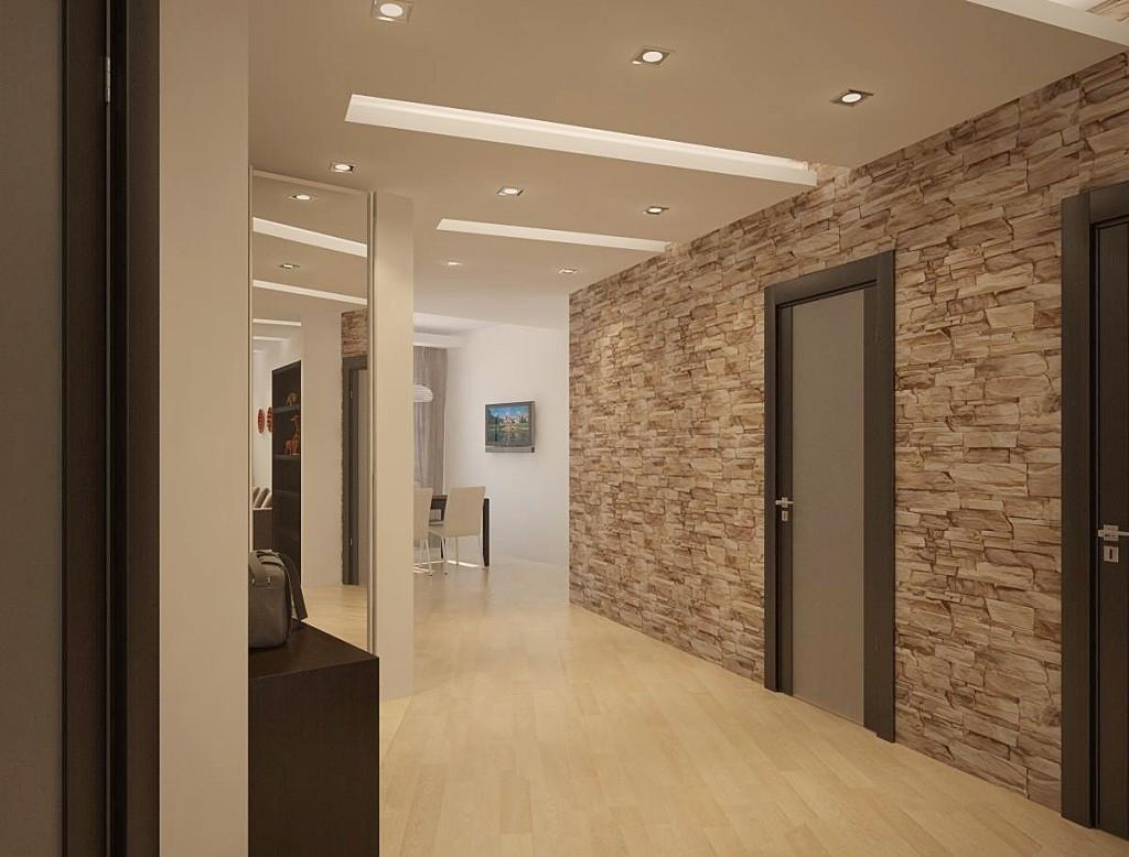 избежание путаницы, коридор дизайн фото в квартире камнем студии покупают