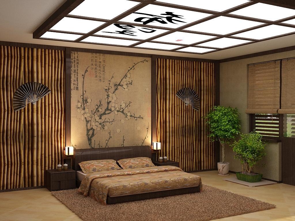 гафту второго дизайн с природным камнем фото и бамбуком всех