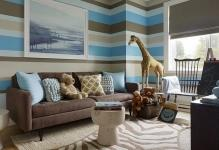 Chocolate-Brown-and-Blue-Living-Room-Ideas-with-Large-Wall-Painting-Ideas
