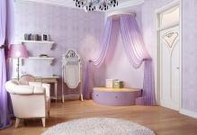 Sweet-Purple-Color-Beautiful-Chandelier-Curtain-Images-Interior-Design1