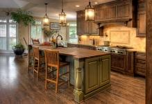 of-country-kitchen-designs-with-hanging-lamp-and-chair-wood