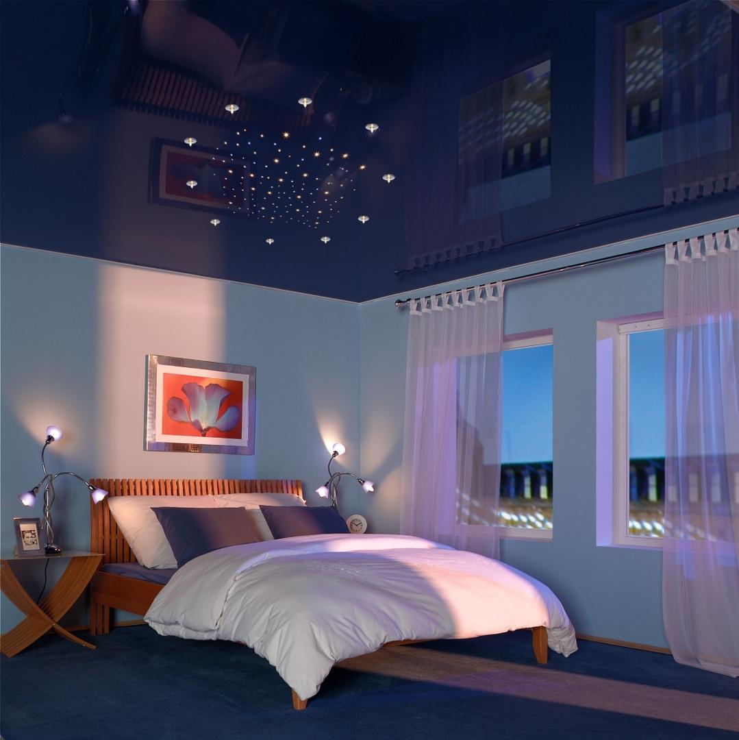 последнем сезоне натяжные потолки темного цвета и спальне фото мадейра