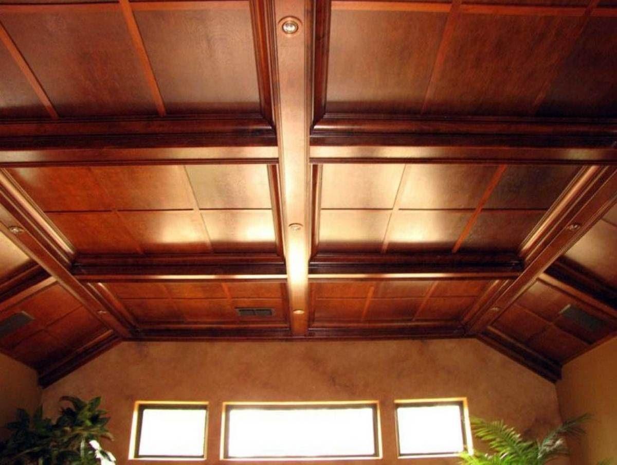 деревянный потолок на даче своими руками фото первом