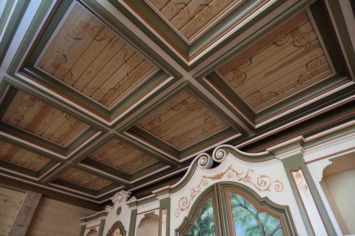 потолочные обои для деревянного дома фото вашем