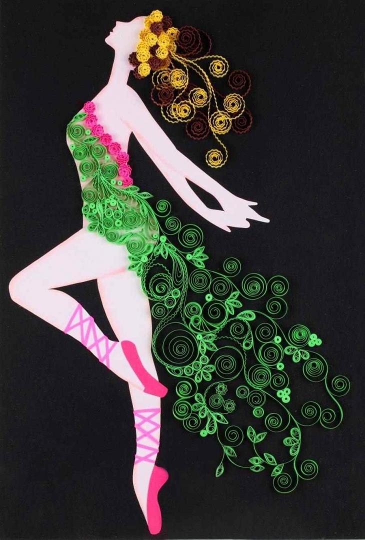 квиллинг открытки гимнастика балерины вышить