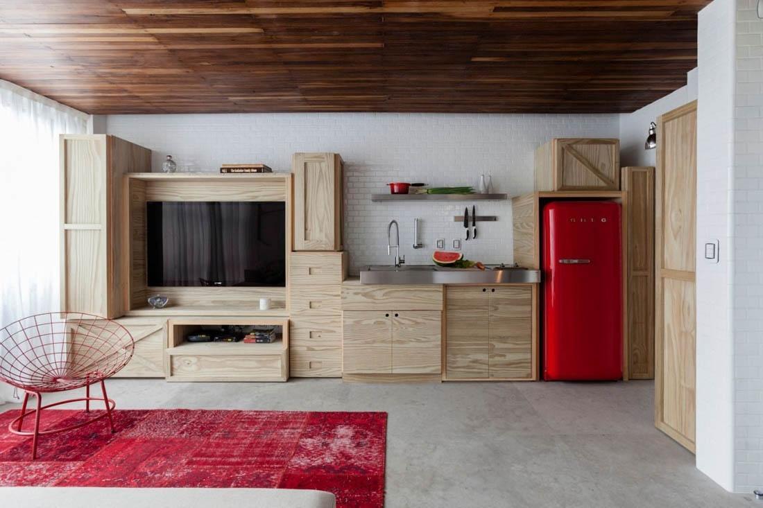 мини кухня в гостиной фото бойтесь