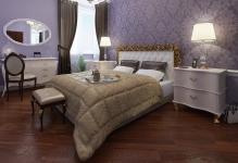 Интерьер спальни с двумя видами обоев: 5 главных советов