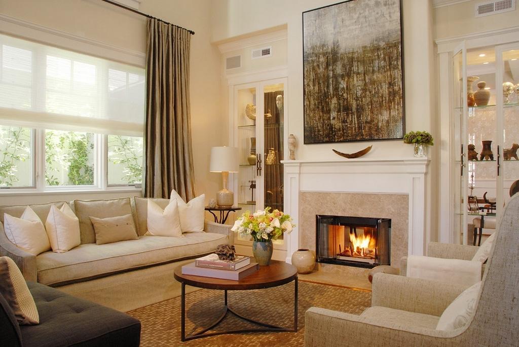 фото гостиной с камином в современном стиле что давайте