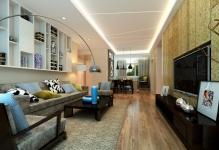 Rectangle-ceiling-for-living-dining-room