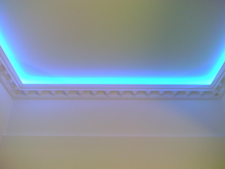 Подсветка потолка фото как сделать