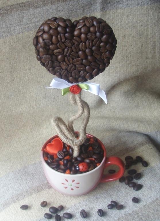 Топиарий из кофе фото интересный дизайн