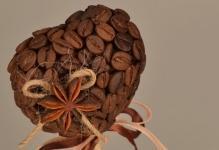 Делаем топиарии из кофейных зерен