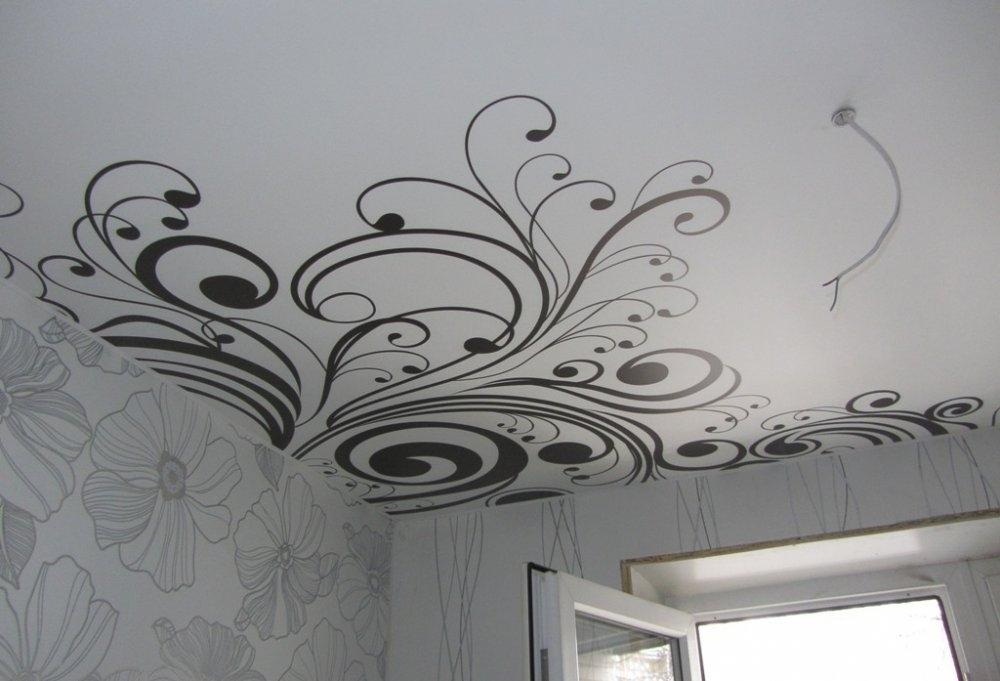 под черно белая картинка на потолок профессия