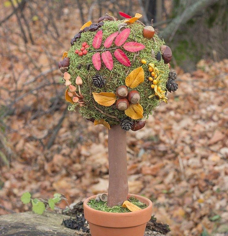 поделка дерево из природного материала на тему осень