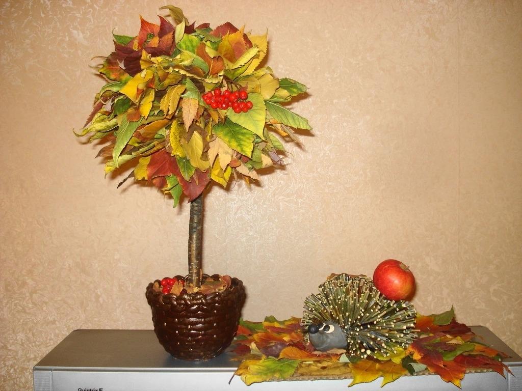 Осеннее дерево своими руками из природного материала фото 969