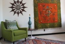 mid-century-rugs-Living-Room-Midcentury-with-armchair-Art-carpet-chair