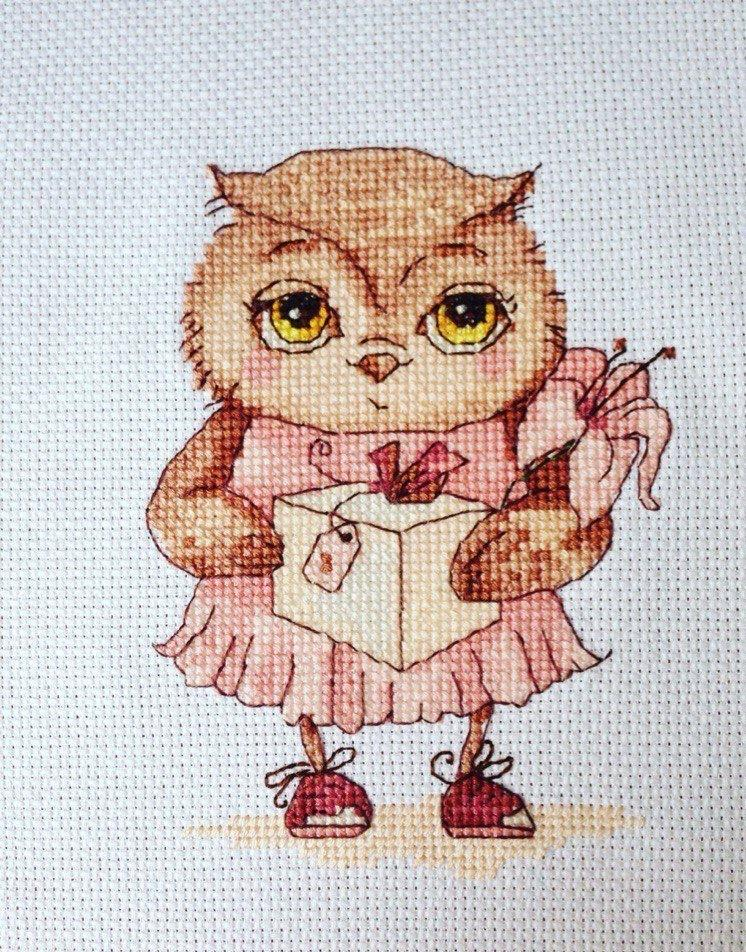 Картинки для вышивания крестиком совы