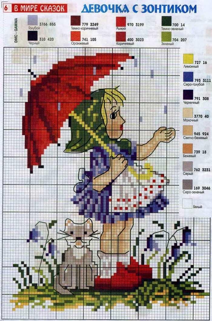 Схема вышивки крестом цифр фото 912
