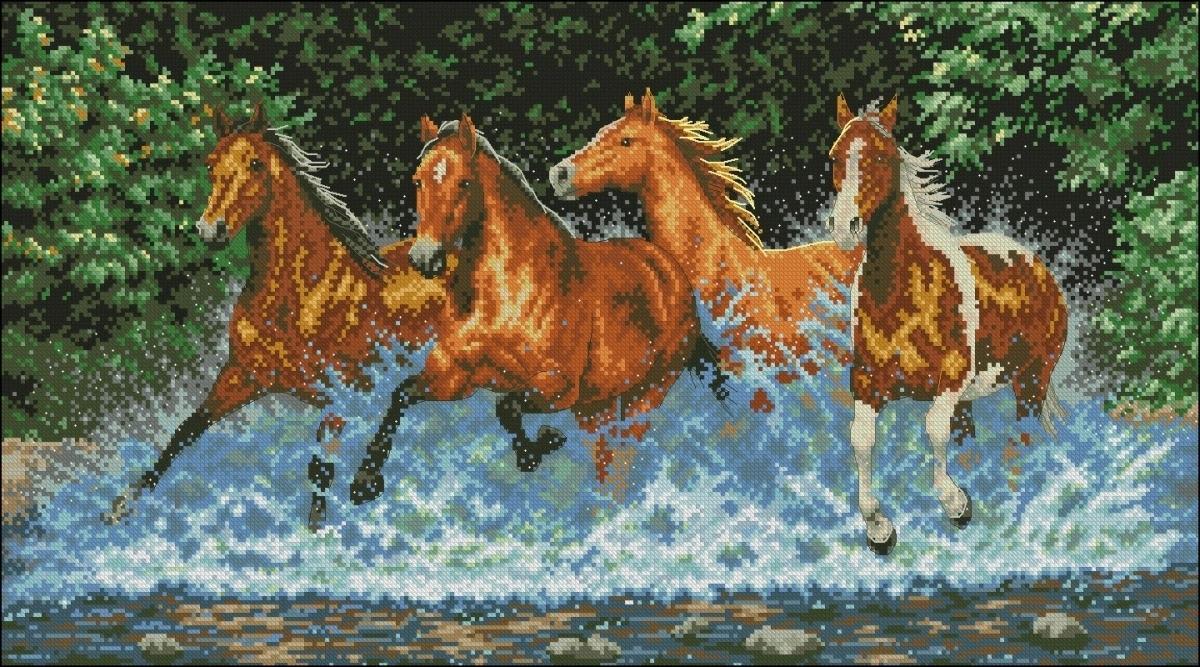 Схема вышивки крестом лошади скачать бесплатно фото 786