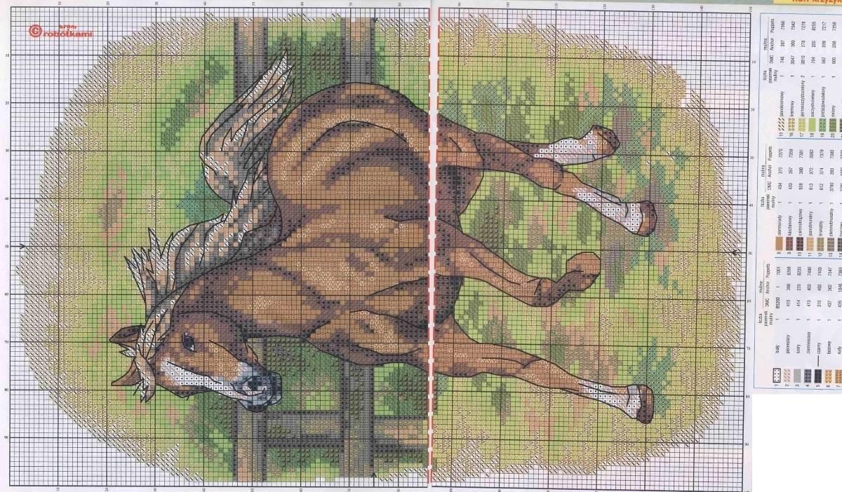Схема вышивки крестом лошади скачать бесплатно фото 620