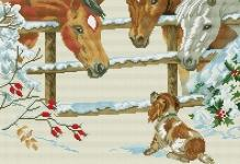 Horses-puppy