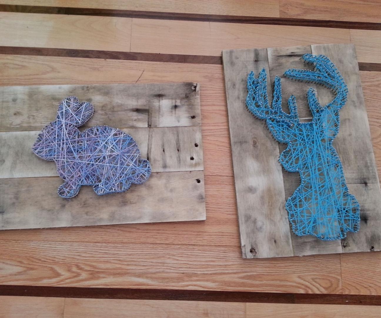Картина из ниток и гвоздей своими руками картины 930