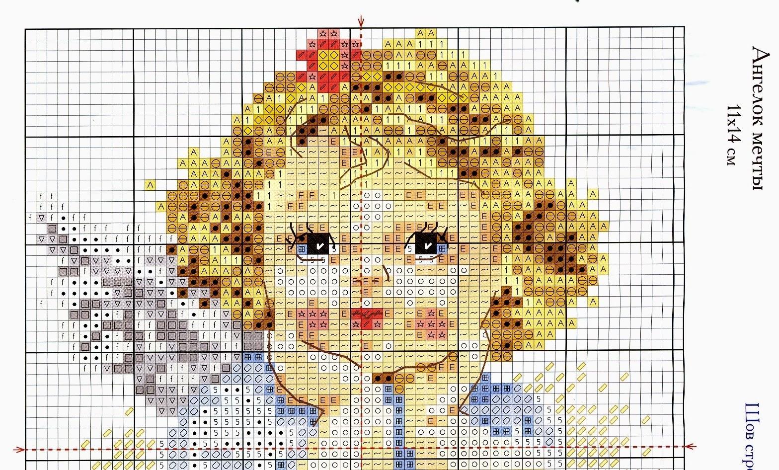 3 ангелочка схема вышивки фото 527