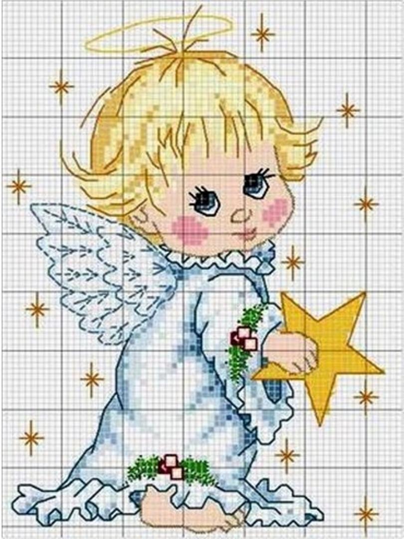 Картинки вышивки крестом ангелочек